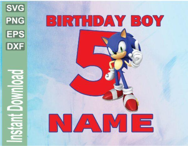 wtm 03 41 Vectorency Sonic Custom Birthday Image PNG, JPEG