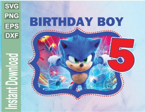 wtm 03 42 Vectorency Sonic Custom Birthday Image PNG, JPG