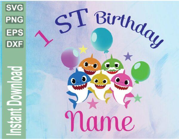 wtm 03 43 Vectorency Baby Shark Custom Birthday Image, JPG, PNG