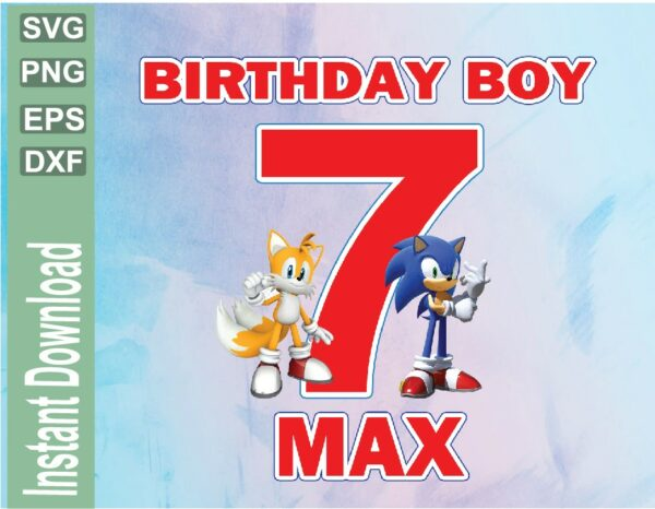 wtm 03 46 Vectorency Sonic and Tails Custom Birthday Image PNG, JPG