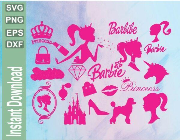 wtm 03 5 Vectorency Barbie SVG Cutting File Bundle, Barbie Ken Printable Cut File Clipart for Cricut, Cut File
