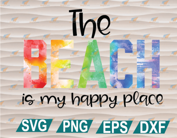 wtm web 01 103 Vectorency Beach is My Happy Place, Sublimation Transfer, Ready to Press, SVG, PNG, EPS, DXF, Digital File