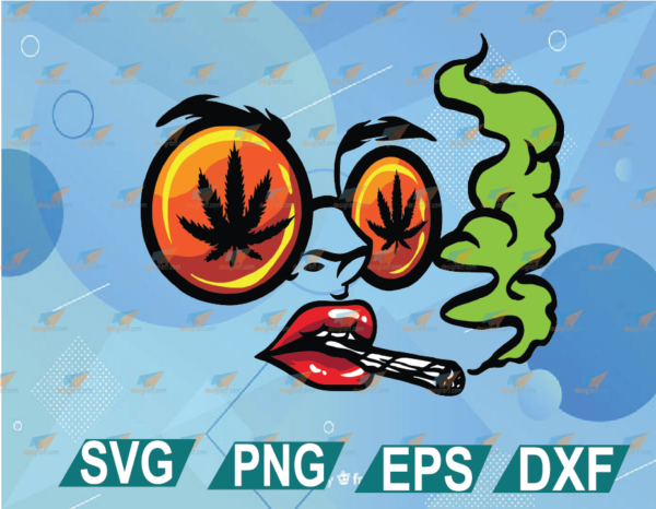 wtm web 01 20 Vectorency Woman Smoking Joint SVG, Lady in Glasses Smoking Weed, Smoking Marijuana SVG, Rasta Girl SVG, Pretty Lady Smoking Weed, Cute File