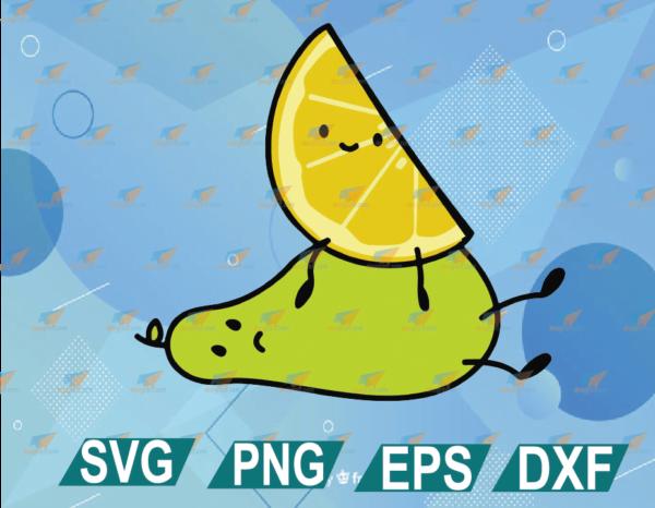 wtm web 01 26 Vectorency Lemon On a Pear Layered SVG, Cricut, Cut File, Digital File Instant Download
