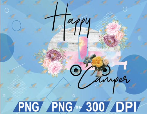wtm web 01 28 Vectorency Happy Camper PNG, PNG Waterslide, PNG Sublimation, Waterslide for Tumbler, Design for Tumbler, Camper design File, Digital Download