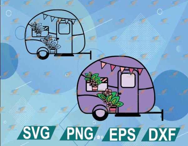 wtm web 01 29 Vectorency Camping SVG, 3D Layered SVG Camper, Happy Camper SVG.