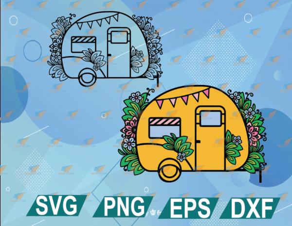 wtm web 01 32 Vectorency Camper SVG, 3D Layered SVG Camping, Happy Camper SVG