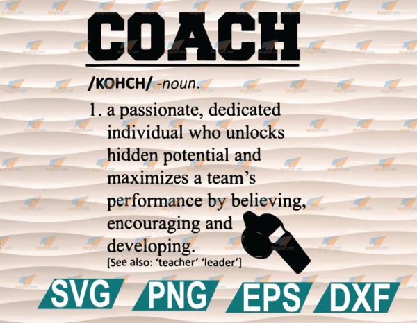 wtm web 01 38 Vectorency Coach Definition SVG, Funny Coach SVG PNG Cut Files Vinyl Clip Art Download