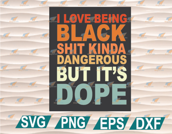 wtm web 01 51 Vectorency I Love Being, Black It's Dope BLM Proud SVG, Black History Month, Black Fist, Black Proud, Black Woman Beautiful, Black Lives Matter Cricut File, Clipart, SVG, PNG, EPS, DXF