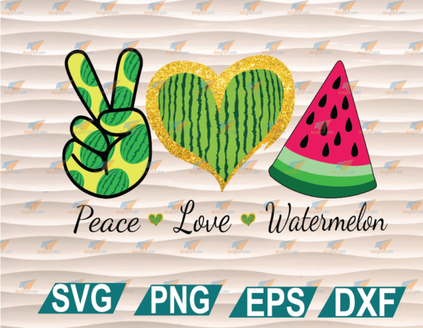 wtm web 01 63 Vectorency Peace Love Watermelon PNG, Just in time for Summer, Perfect for Sublimation Cricut File, Clipart, SVG, PNG, EPS, DXF
