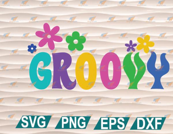 wtm web 01 67 Vectorency 60's Groovy Flowers SVG, Retro Hippie Sublimation PNG, Vintage, Sashion Digital Download PDF, Cricut, Silhouette, Instant Download