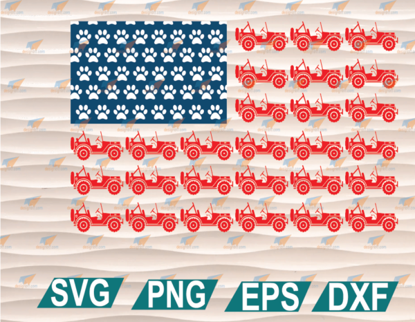 wtm web 01 84 Vectorency America Flag, Independence Day, 4th Of July, Jeep Lovers, Dog Paw Prints, America Flag SVG, Clipart, SVG, PNG, EPS, DXF, Digital File