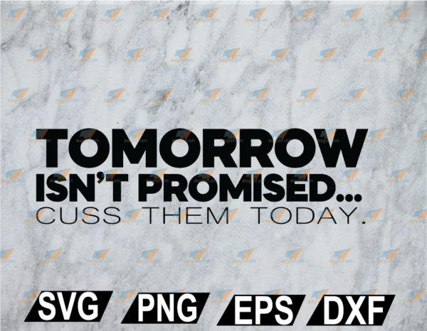 wtm web 02 28 Vectorency Tomorrow Isn't Promised SVG, PNG, EPS, DXF, Digital File