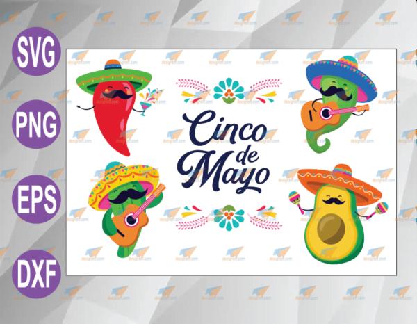 wtm web 04 54 Vectorency Cinco de Mayo SVG, Fiesta Clipart/Fiesta SVG, Sombrero SVG, Mexican SVG/Mexican Clipart, Cinco de Mayo PNG, Chili Pepper SVG