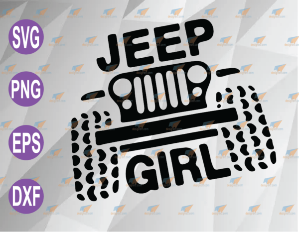 wtm web 04 63 Vectorency Jeep Girl SVG, PNG, EPS, DXF, Digital File