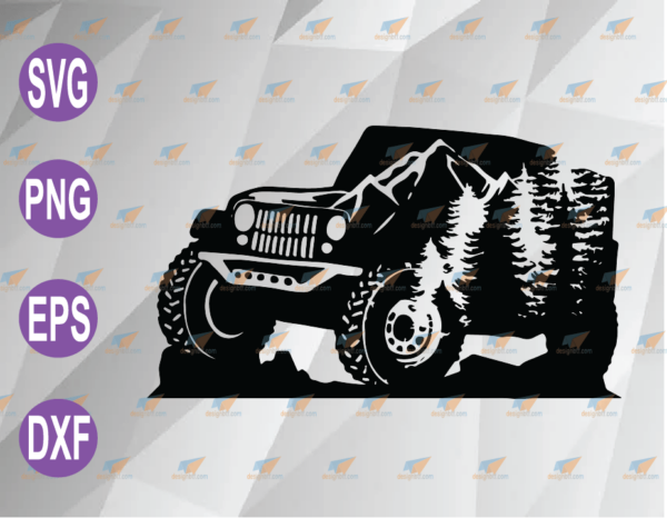 wtm web 04 64 Vectorency Mountain Jeep SVG svg, png, eps, dxf, digital file