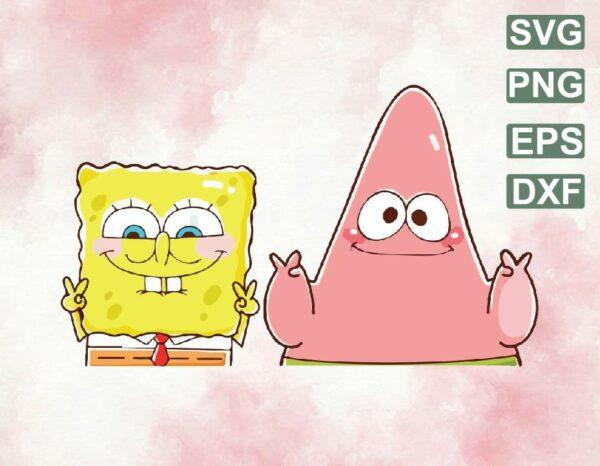 wtm web 06 1 Vectorency Spongebob and Patrick PNG, SquarePants PNG, Patrick Star PNG, Spongebob Sublimation, Patrick Sublimation, Transparent Background, SVG, PNG, EPS, DXF