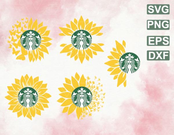 wtm web 06 11 Vectorency Sunflower SVG Bundle, Sunflower SVG, Flower SVG, Monogram SVG, Half Sunflower SVG, Sunflower SVG Files, Cut file Cricut, Silhouette, Cameo