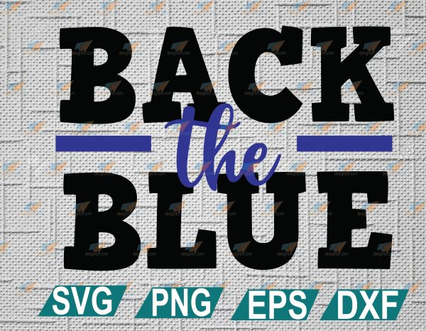 wtm web 2 01 1 Vectorency Back the Blue, Thin Blue Line, Girl, Daughter, Wife, Police Instant Download, Cut File, SVG, DXF, PNG