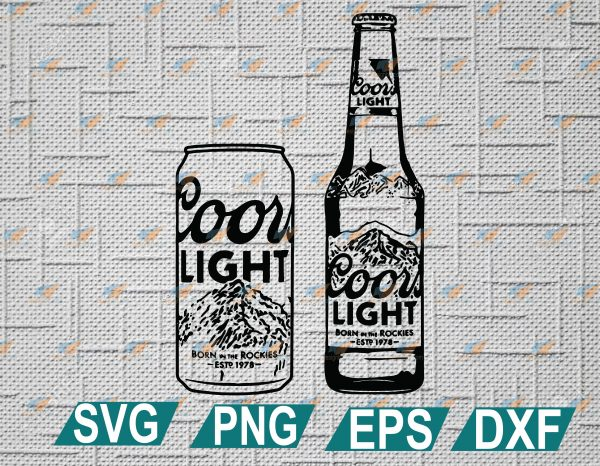 wtm web 2 01 5 Vectorency Coors Light Bottle And Can Alcohol Beer SVG, Coors Light Vector, Beer SVG, Can Alcohol Beer SVG, Coors Light Bottle SVG, EPS, DXF, PNG