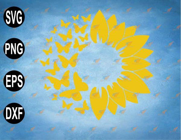 wtm web 2 03 36 Vectorency Sunflower SVG, Butterfly SVG, SVG Sunflower, Sunflower Butterfly SVG for cricut, Sunflower Butterfly SVG, Sunflower with Butterfly SVG
