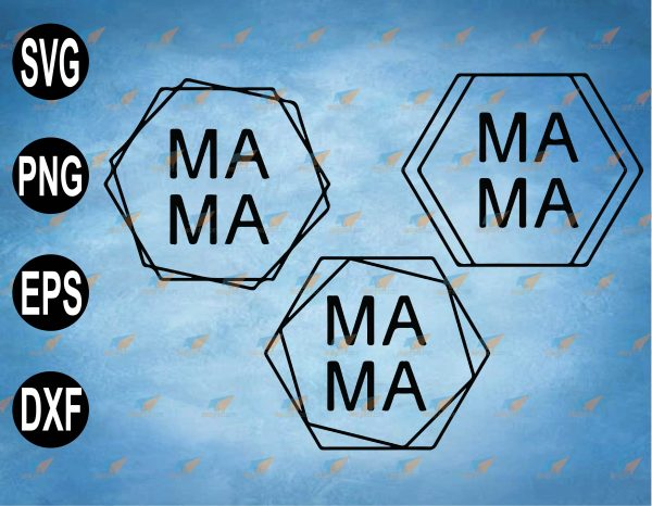 wtm web 2 03 41 Vectorency Mama Hexagon SVG PNG Clipart Digital SVG, PNG, EPS, Download File