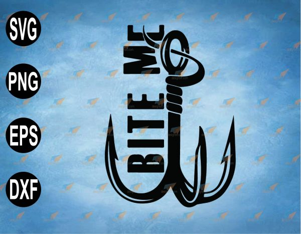 wtm web 2 03 47 Vectorency Bite me SVG File, Fishing SVG, Funny Hook, Funny Fishing SVG For Cricut, Fishing Sign SVG, Fisherman Birthday SVG, PNG, EPS, Download File