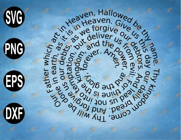 wtm web 2 03 51 Vectorency The Lord's Prayer Spiral SVG, PNG, EPS, Download File