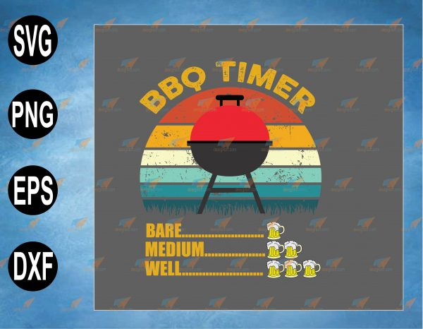 wtm web 2 03 8 Vectorency BBQ Timer Barbecue Drinking Grilling Grill Beer SVG, Grilling BBQ Day, Smoke BBQ for BBQ Lovers and Beer Lovers at any Occasion, SVG, PNG, EPS, DXF Digital File, Digital Print Design