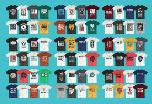 104 Niche Music 2 Vectorency 104 Music T-Shirt Designs Bundle EPS - SVG - PNG