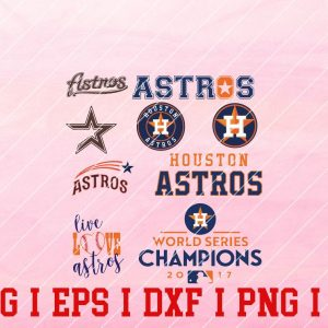 11 Vectorency HOUSTON ASTROS Logo Vector - Set of SVG, EPS, DXF, PNG Files of a Sports Team, For Cutting, Design, T-shirts, Mugs, Projects, Crafts...