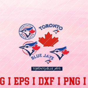 12 Vectorency Toronto Blue Jays SVG Bunlde - Set of SVG, EPS, DXF, PNG Files of a Sports Team, For Cutting, Design, T-Shirts, Mugs, Projects, Crafts...