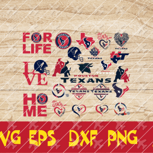 13 1 Vectorency Houston Texans Set of Cut File, EPS, DXF Files of a Sports Team, for Cutting, Design, T-Shirts, Mugs, Projects, Crafts