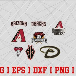 14 Vectorency Arizona Diamondbacks SVG - set of SVG, EPS, DXF, PNG files of a Sports Team, For Cutting, Design, T-Shirts, Mugs, Projects, Crafts...