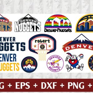 15 1 Vectorency Denver Nuggets SVG Set of Cut Files, EPS, DXF Files of a Sports Team, for Cutting, Design, T-Shirts, Mugs, Projects, Crafts