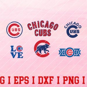 15 Vectorency Chicago Cubs Logo SVG Bundle - set of SVG, EPS , DXF, PNG Files of a Sports Team, For Cutting, Design, T-Shirts, Mugs, Projects, Crafts...