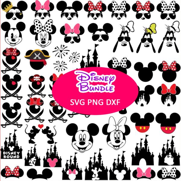 Bundle Disney SVG/Mickey Mouse SVG/Minnie Mouse SVG/Disney Castle Mickey/Minnie SVG/For Cricut/For Silhouette/Clipart Bundle/Cut File Png/Instant Download