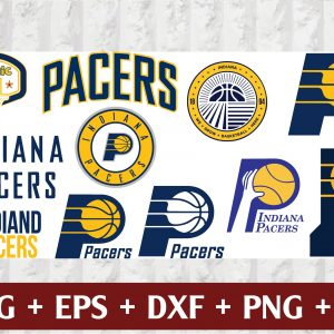 16 1 Vectorency Indiana Pacers SVG - set of Cut Files, EPS, DXF, PNG Files of a Sports Team, for Cutting, Design, T-shirts, Mugs, Projects, Crafts
