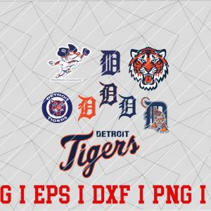 17 Vectorency Detroit Tigers SVG Files, Cut Files, Baseball Clipart, Cricut Detroit Tigers, Cutting Files, Baseball DXF, Clipart, Instant Download