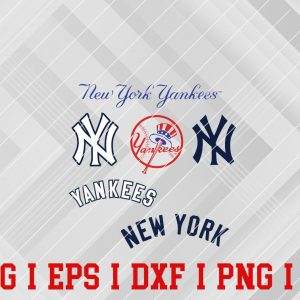 2 Vectorency New York Yankees SVG - Set of SVG, EPS, DXF, PNG Files of a Sports Team, For Cutting, Design, T-Shirts, Mugs, Projects, Crafts...