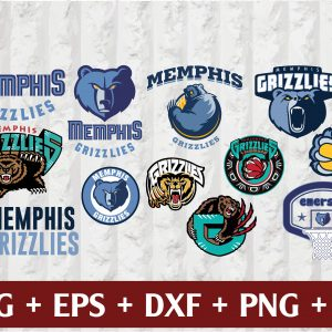21 1 Vectorency Memphis Grizzlies SVG - set of Cut files, EPS, DXF, PNG Files of a Sports Team, for Cutting, Design, T-shirts, Mugs, Projects, Crafts