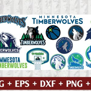 23 1 Vectorency Minnesota Timberwolves SVG - set of Cut Files, EPS, DXF, PNG Files of a Sports Team, for Cutting, Design, T-shirts, Mugs, Projects, Crafts