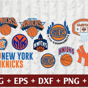 25 1 Vectorency New York Knicks Set of Cut Files, EPS, DXF Files of a Sports Team, For Cutting, Design, t-shirts, mugs, projects, crafts