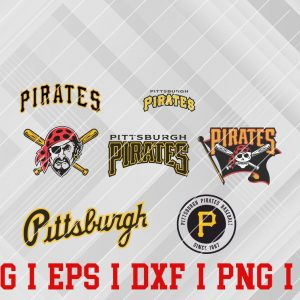 25 Vectorency Pittsburgh Pirates SVG, EPS, DXF Files of a Sports Team, for Cutting, Design, T-Shirts, Mugs, Projects, Crafts