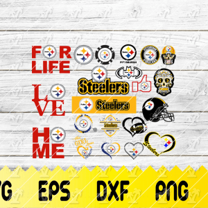 26 1 Vectorency Pittsburgh Steelers Set of Cut File, EPS, DXF Files of a Sports Team, for Cutting, Design, T-Shirts, Mugs, Projects, Crafts