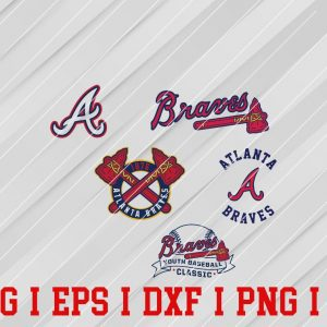 26 Vectorency Atlanta Braves SVG, EPS, DXF, PNG Files of a Sports Team, for Cutting, Design, T-Shirts, Mugs, Projects, Crafts