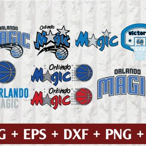 27 1 Vectorency Orlando Magic SVG - set of Cut Files, EPS, DXF, PNG Files of a Sports Team, for Cutting, Design, T-shirts, Mugs, Projects, Crafts