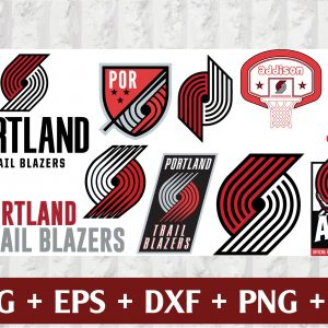29 1 Vectorency Portland Trail Blazers Set of Cut Files, EPS, DXF Files of a Sports Team, For Cutting, Design, T-Shirts, Mugs, Projects, Crafts