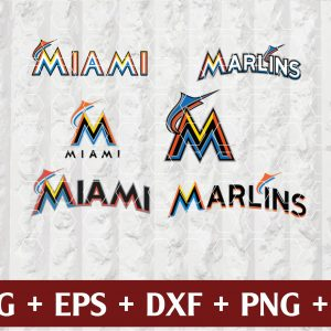 29 Vectorency Miami Marlins Logo SVG, EPS, DXF, PNG Files of a Sports Team, for Cutting, Design, T-Shirts, Mugs, Projects, Crafts
