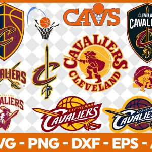 3 1 Vectorency Cleveland Cavaliers SVG - set of Cut Files, EPS, DXF, PNG files of a Sports Team, for Cutting, Design, T-Shirts, Mugs, Projects, Crafts